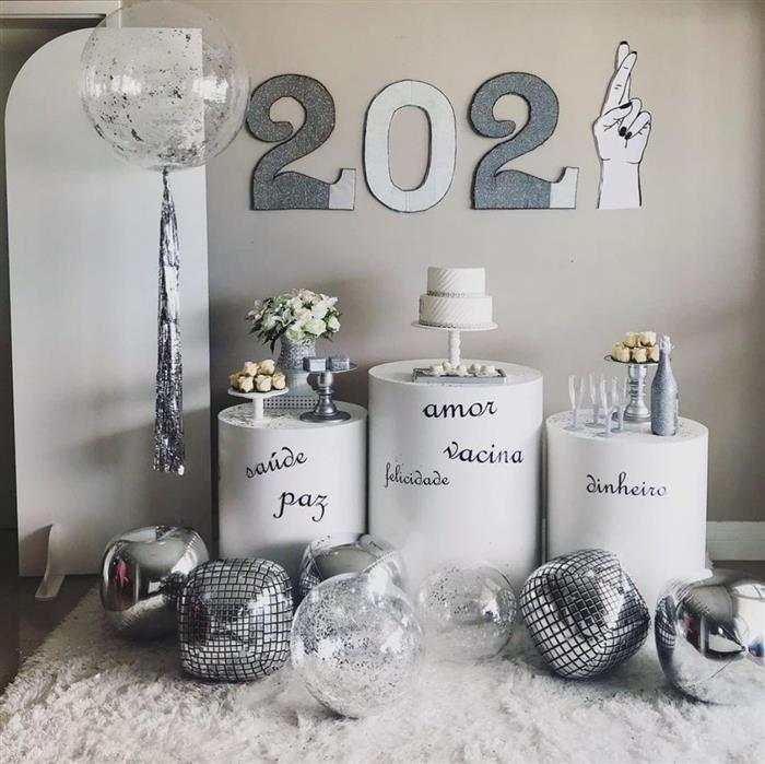 decoração ano novo 2021