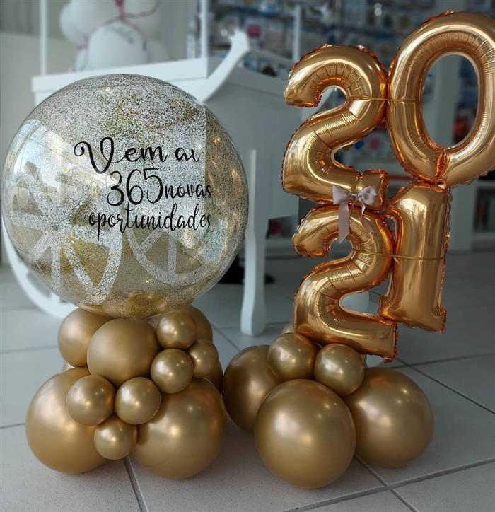 decoração de ano novo em 2021