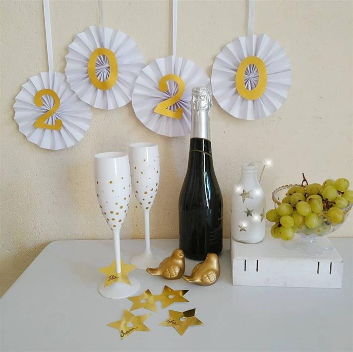 decoração de ano novo mesa de frutas