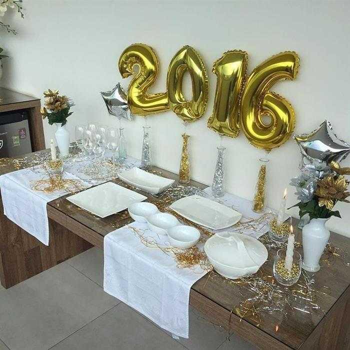 decoração mesa de janta ano novo