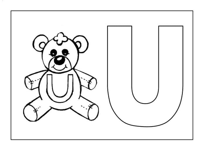 Desenho sobre a letra U