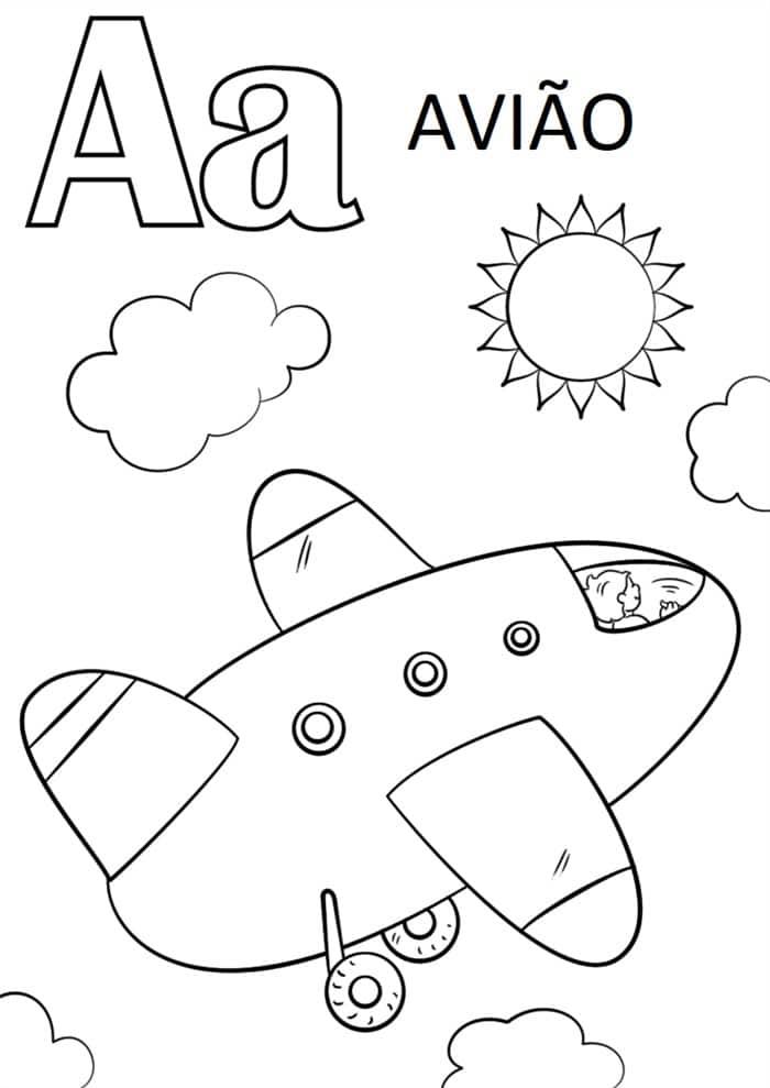 desenhos educativos para colorir e imprimir grátis