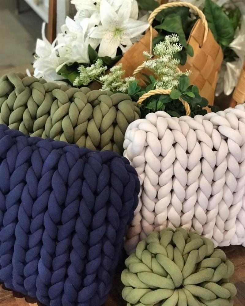almofada maxi tricot