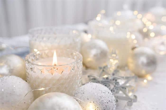 mesa decorada para ano novo