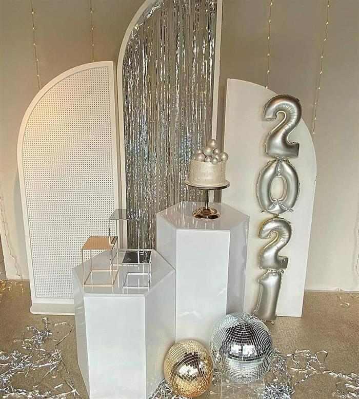 mesa decorativa festa ano novo