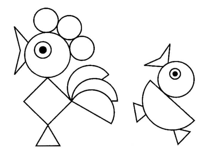 Formas geométricas e animais
