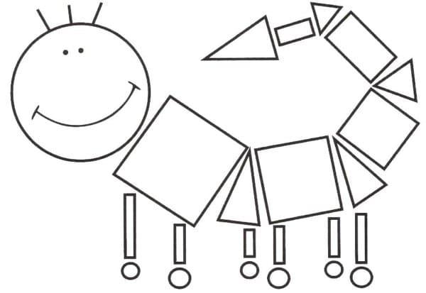 animais de formas geométricas