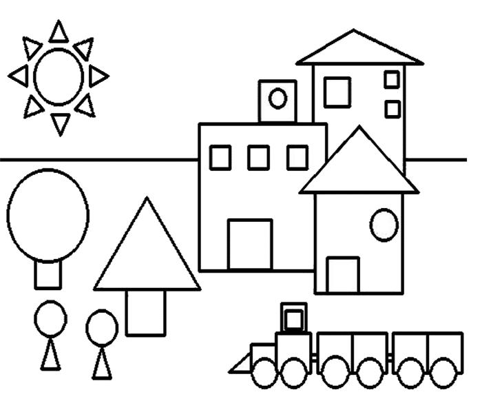 Desenho com formas geométricas