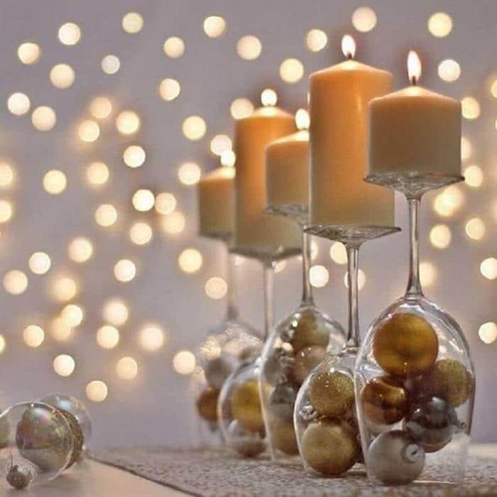 taças decoradas ano novo