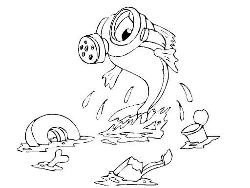 Desenho sobre poluição ambiental