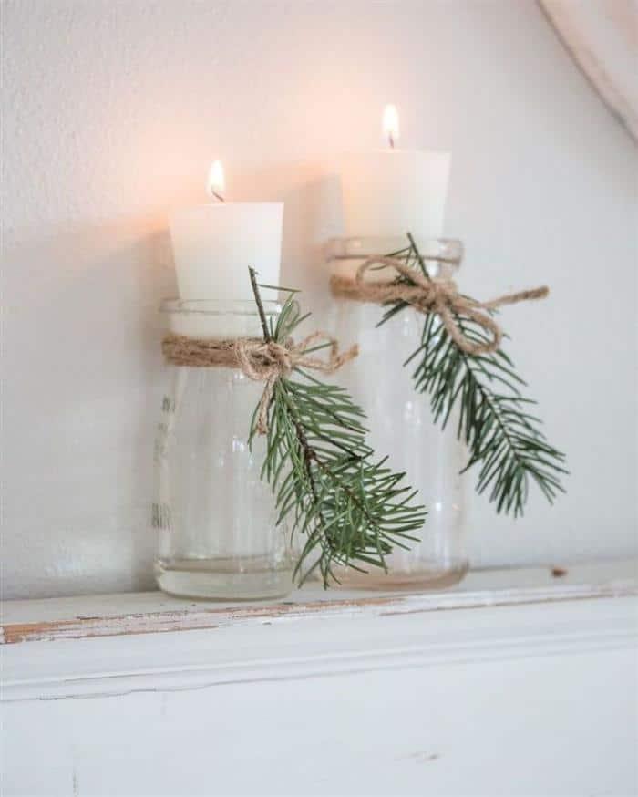 decoração de ano novo 2022 com velas