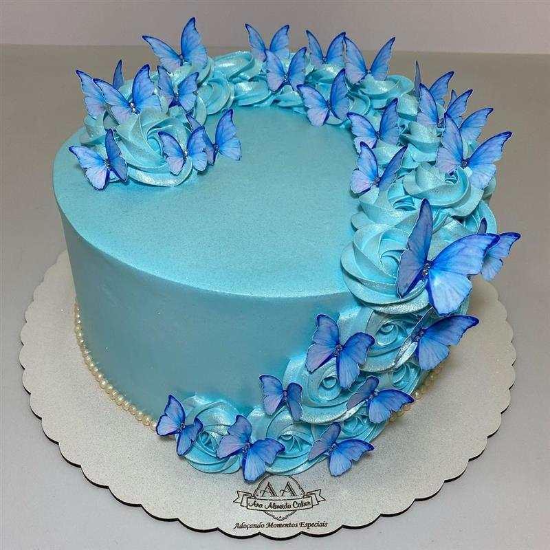 bolo tema borboletas e flores