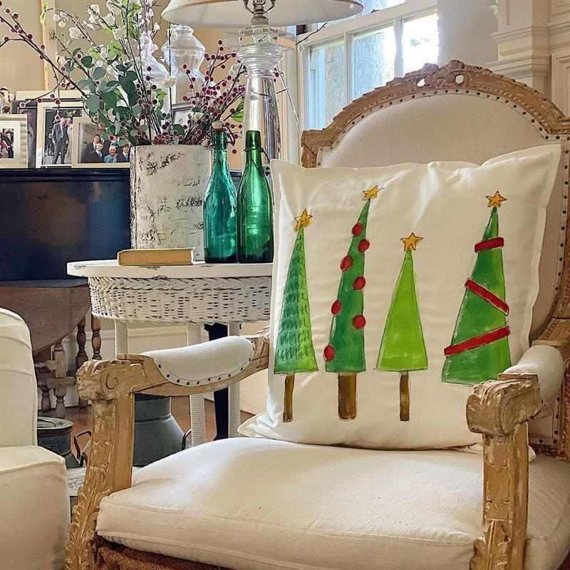 almofada de natal decorada