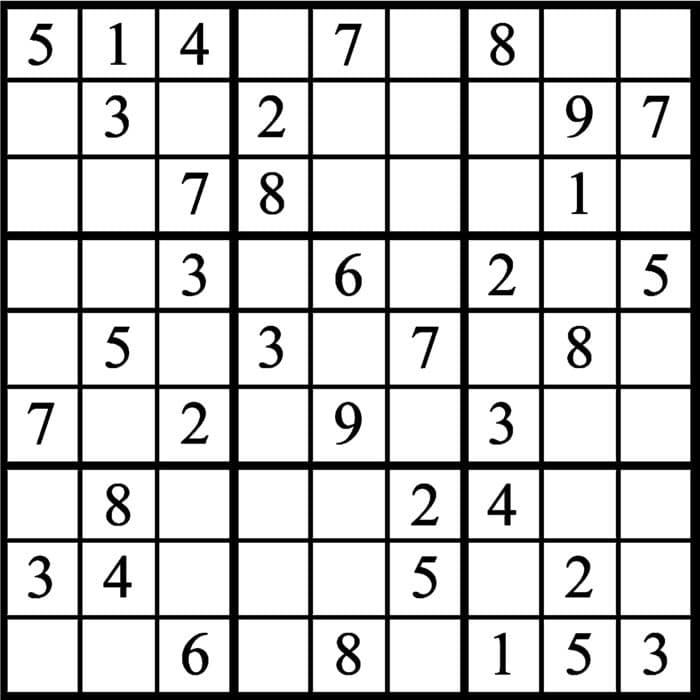 sudoku para imprimir em branco