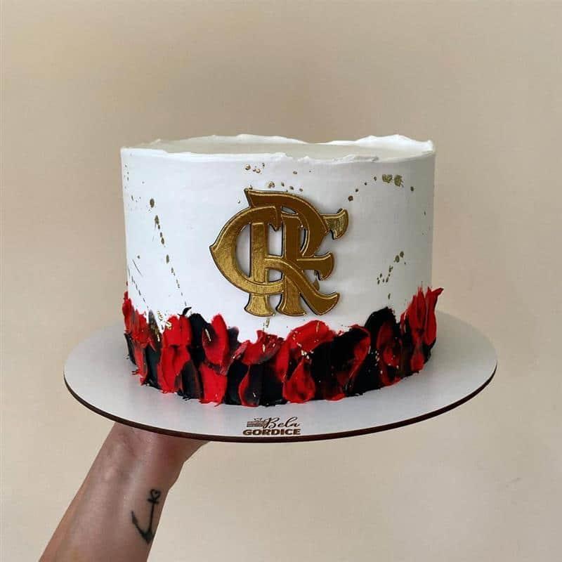 bolo do flamengo branco