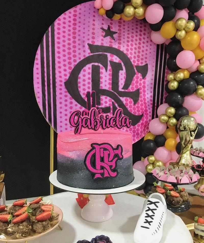 rosa e preto com glitter