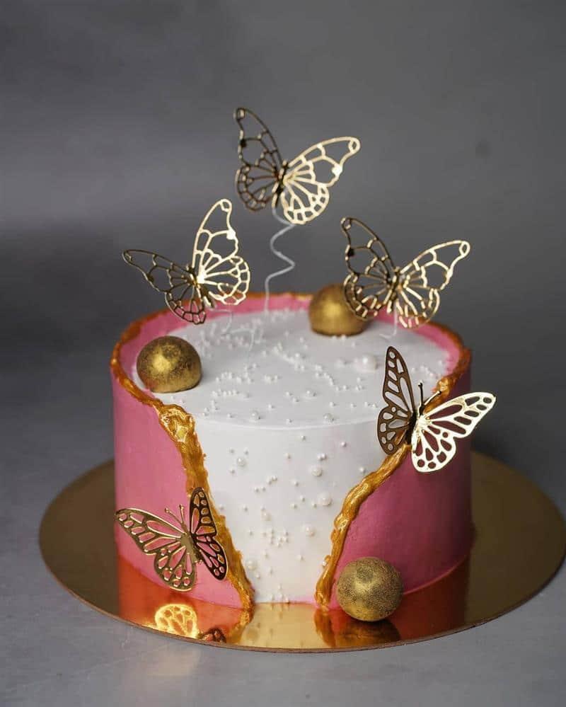 topo para bolo de borboletas