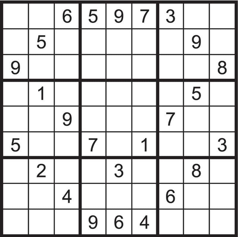 sudoku para imprimir nível difícil