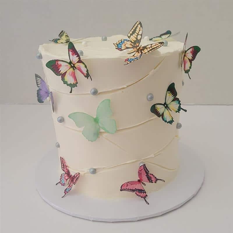 bolo de chantilly tema borboletas