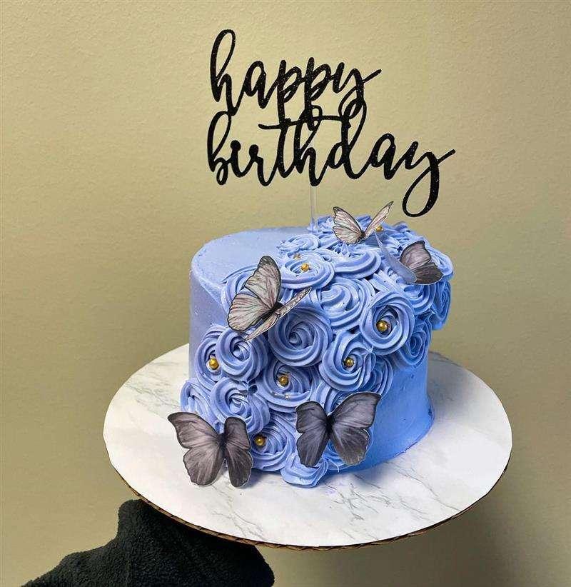 azul com rosetas