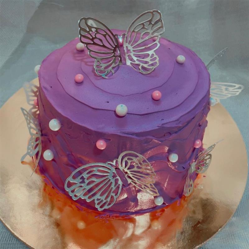 bolo de borboleta roxo