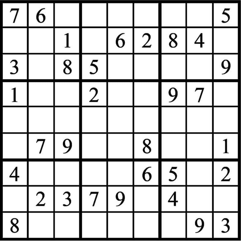 sudoku para imprimir nível médio