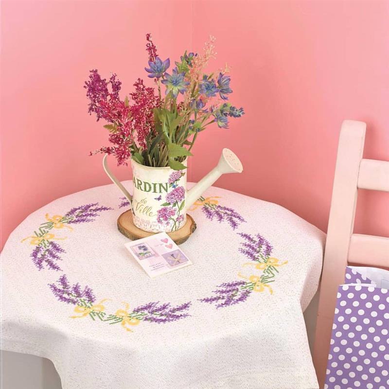 bordados em ponto cruz para toalha de mesa