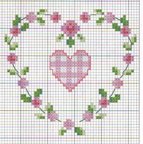 de flores com coração dentro