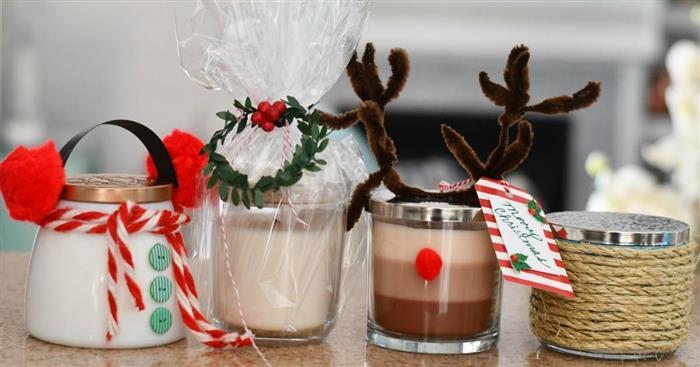 velas para decoração de natal 2021