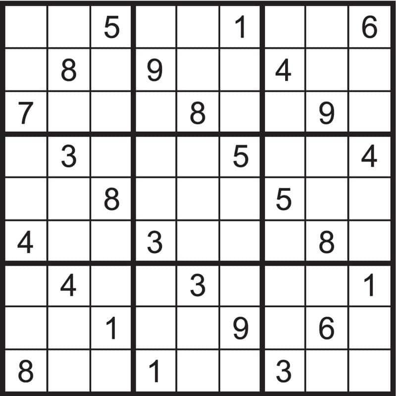 tipos de sudoku