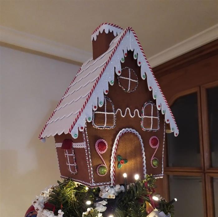 casinha de decoração de natal 2021