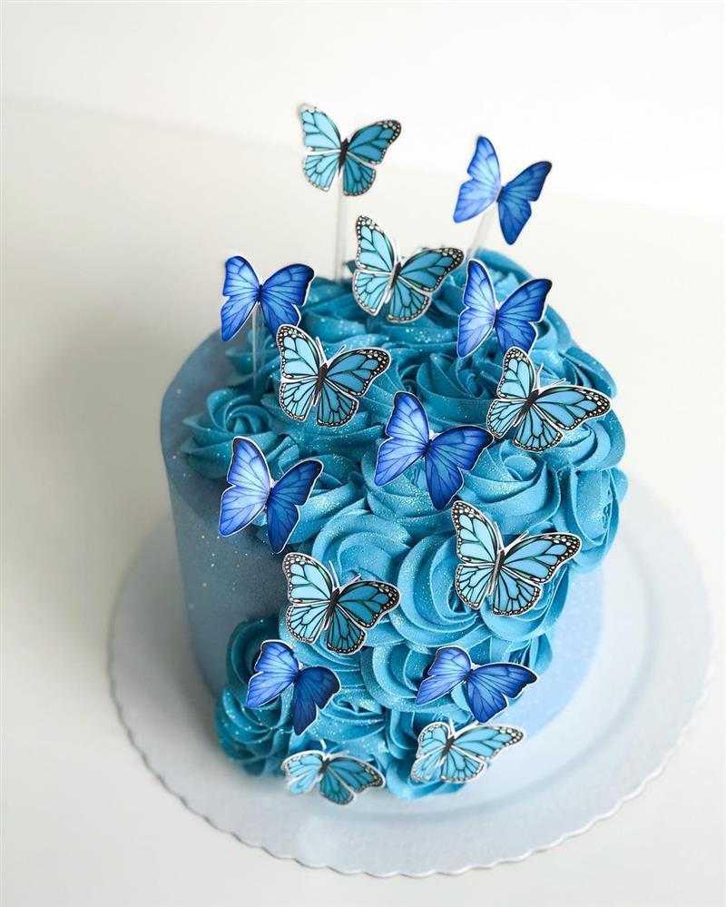 bolo de borboletas simples