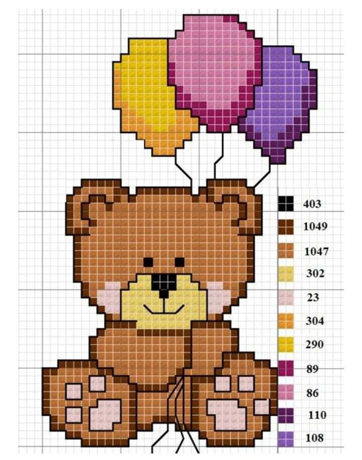 urso com baloes