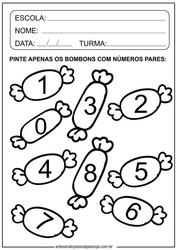 atividades de matemática para educação infantil 5 anos