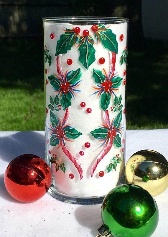 pintura natalina em vidro