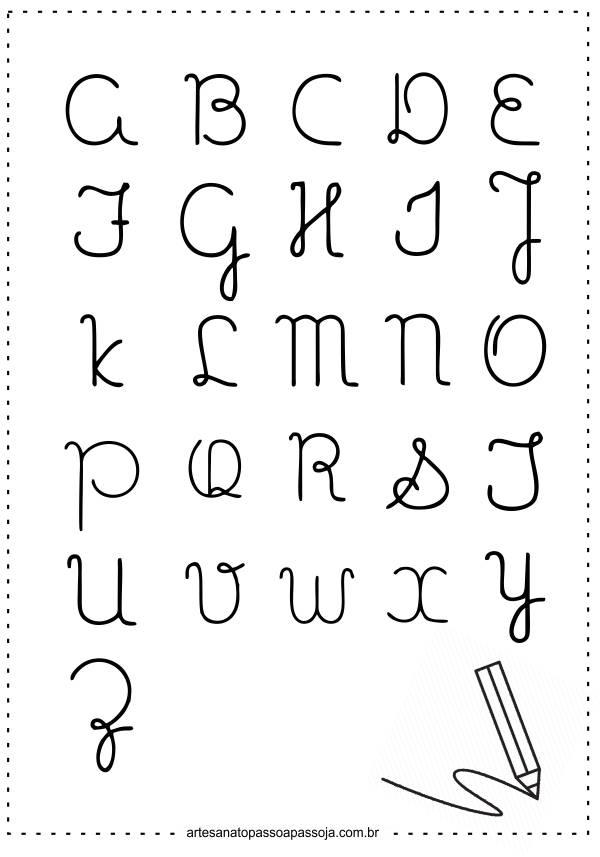 alfabeto cursivo para imprimir