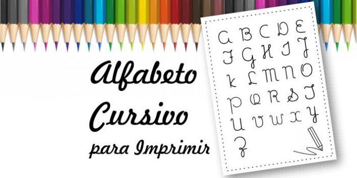 Modelo de alfabeto cursivo