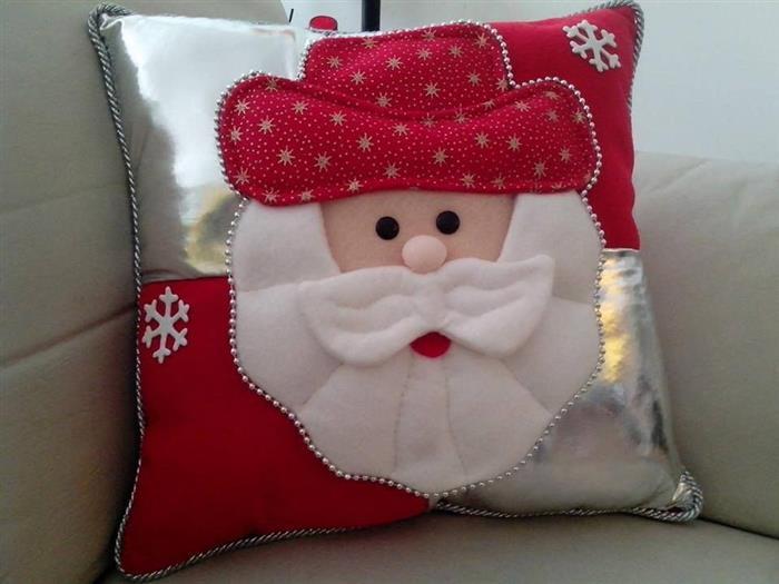 almofadas decoração de Natal 2021