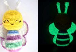 abelhinha de croche glow