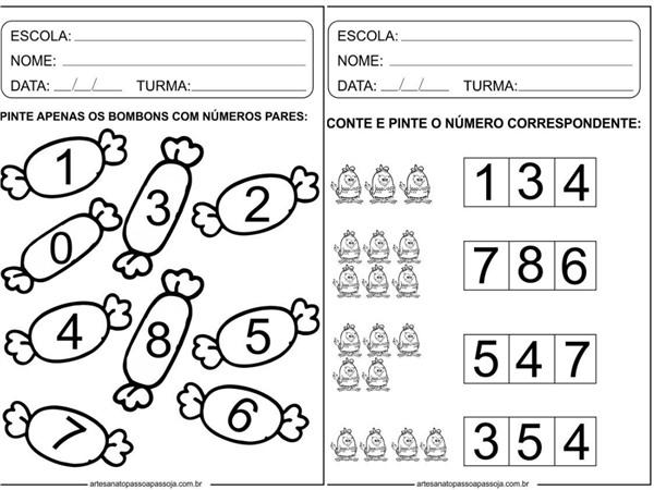 Atividades lúdicas de matemática Educação Infantil