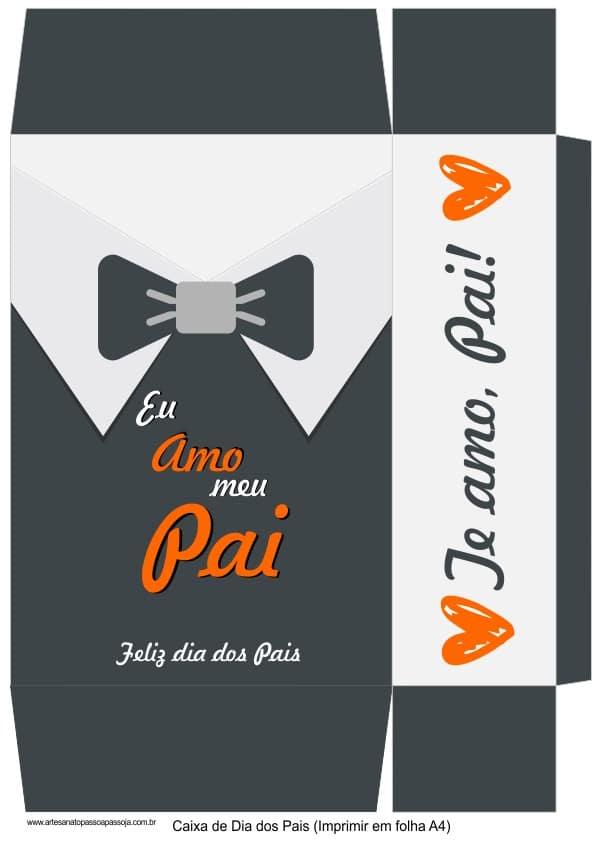 caixa dia dos pais personalizada gravata