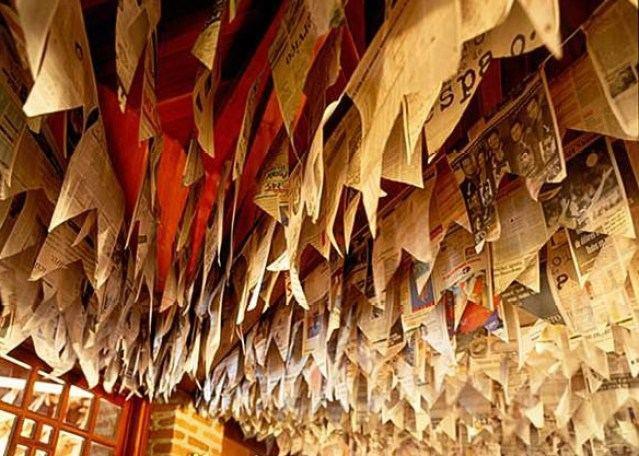 bandeirinhas de festa junina de jornal