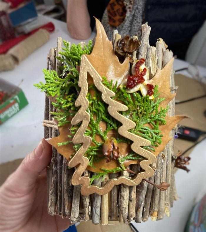 enfeite de madeira decoração de Natal 2021