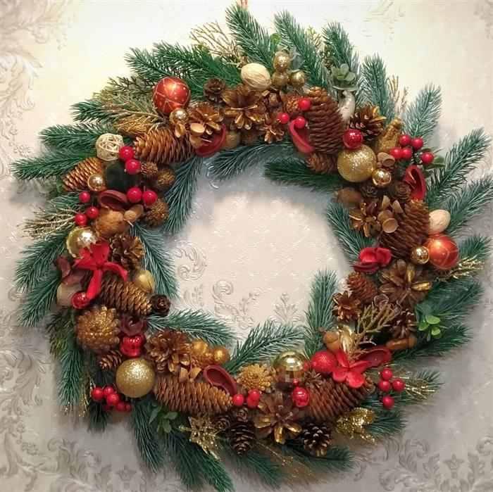 guirlanda decoração de Natal 2021
