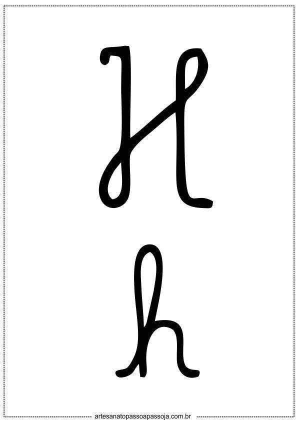 alfabeto cursivo letra h