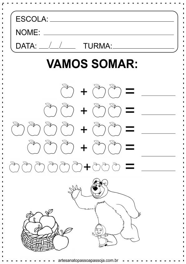 Atividades de matemática Educação Infantil 3 Anos