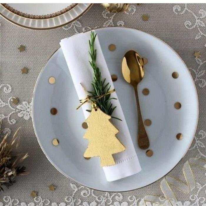 mesa posta decoração de Natal 2021