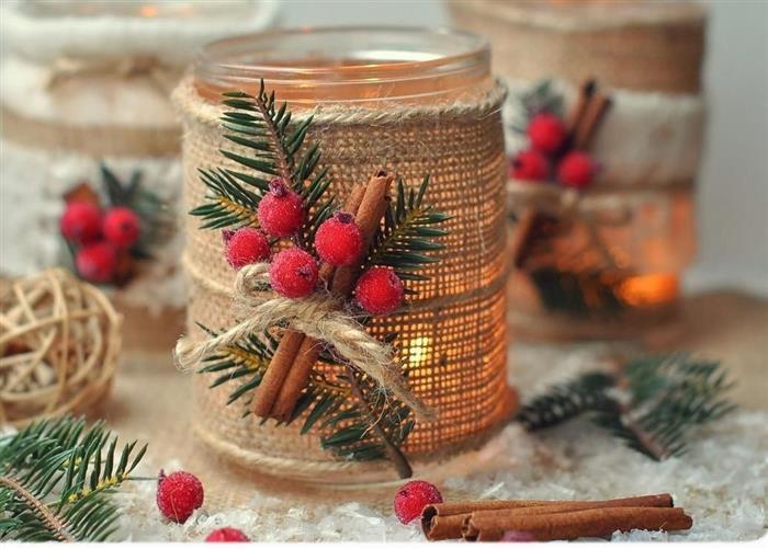 vela decorativa decoração de Natal 2021