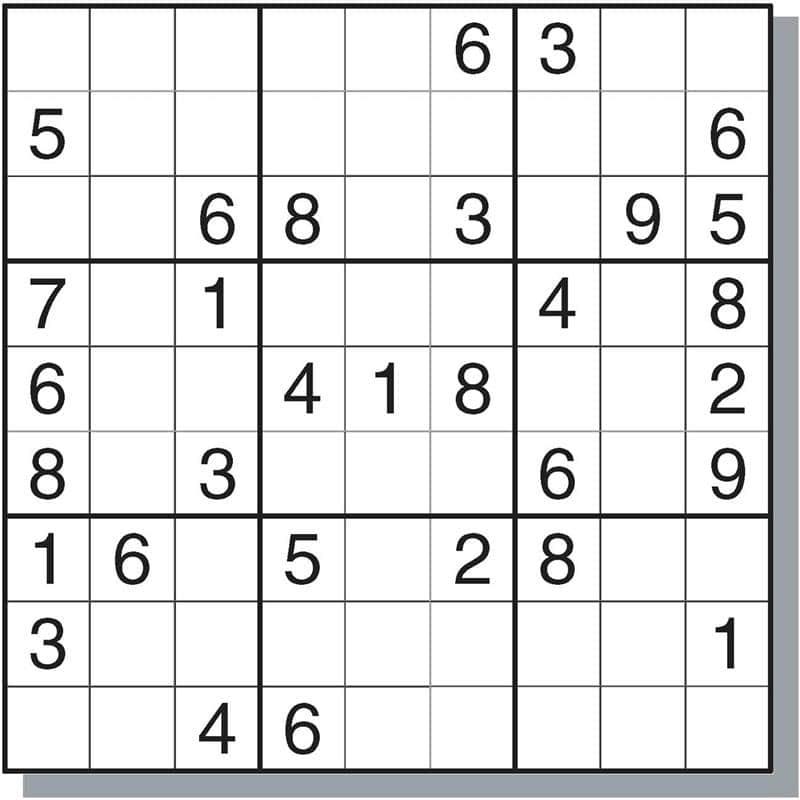 exercicios de sudoku para imprimir