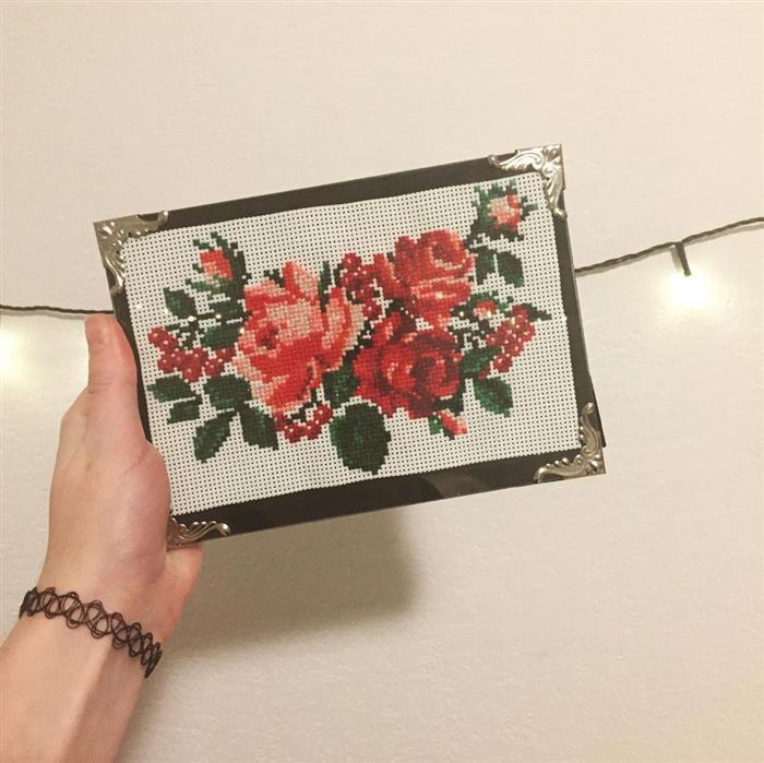 quadro com rosas